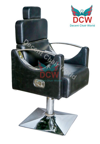 0 Decent Salon Chair World Indore Black square shape Salon hydraulic chair