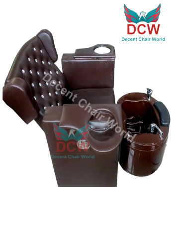 0 Decent Salon Chair World Indore Manicure Pedicure Sofa with Pedicure Jacuzzi Station and Stool - DCW